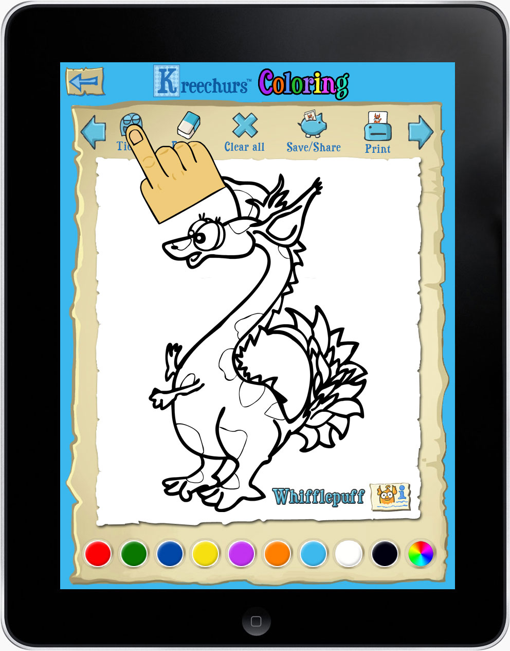 iPad colouring app for kids
