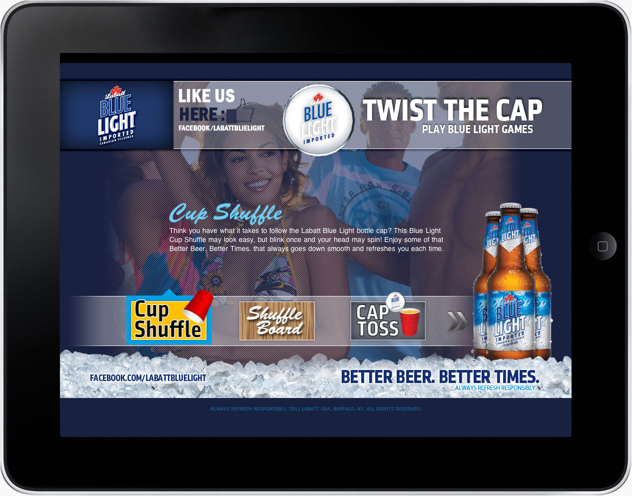 Mobile app for Labatt Blue