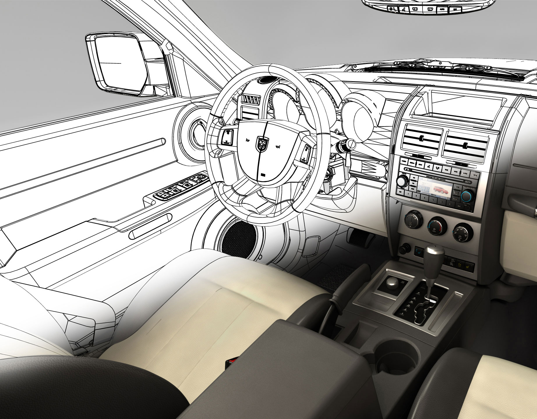 Car interiors Illustration