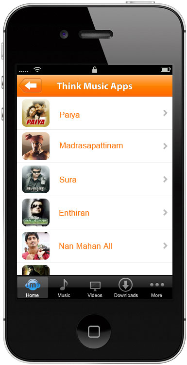 Mobile app for movie songs