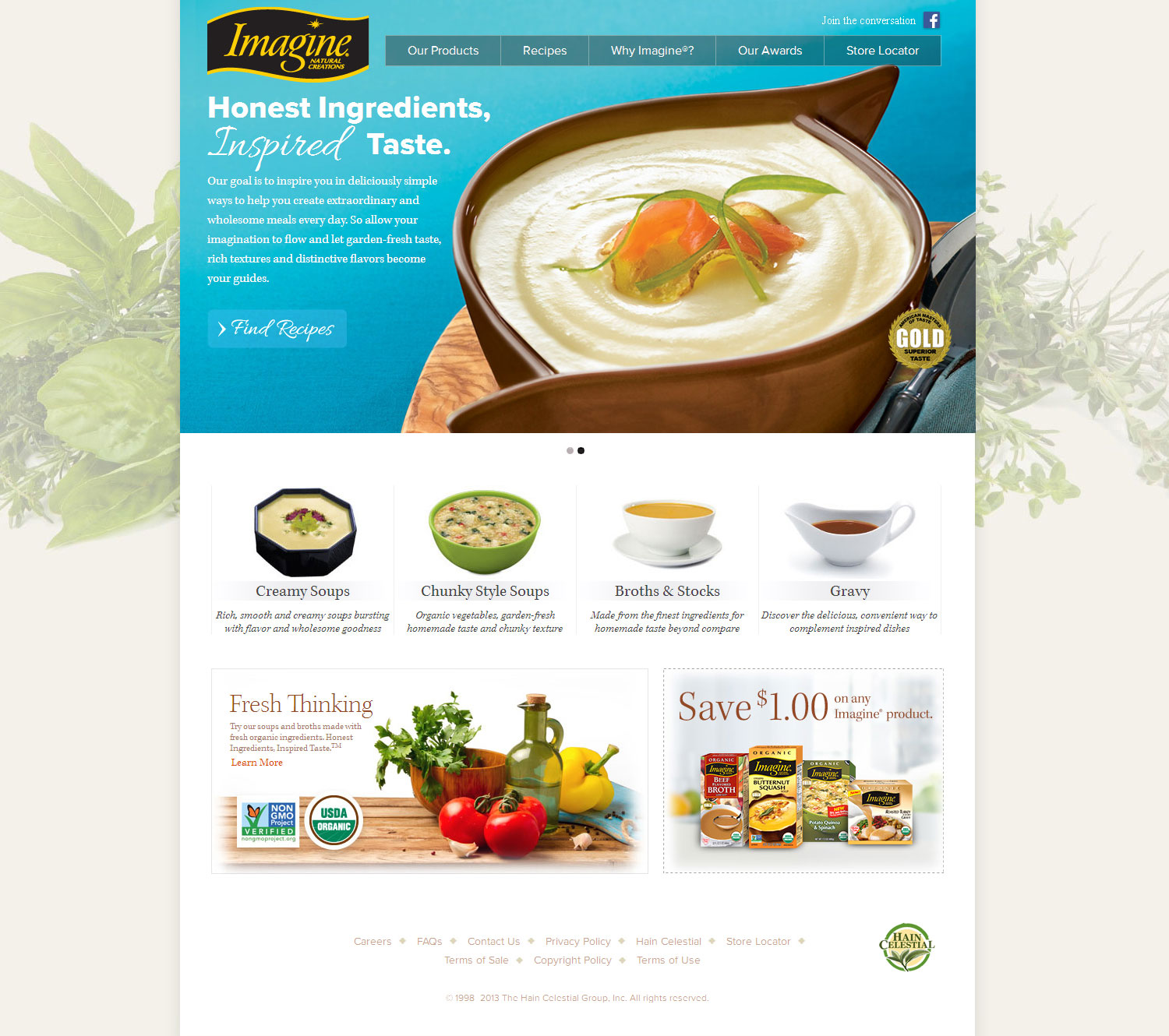 Website for USDA certified Imagine Foods